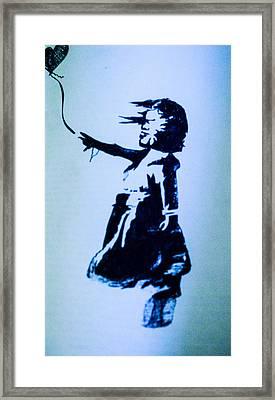 Banksy's Girl Framed Print by Margo Kurtzke