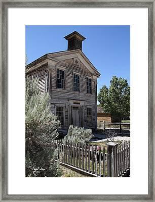 Bannack Masonic Hall Framed Print by David Salter