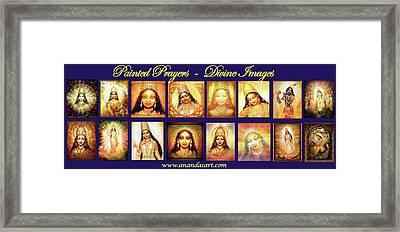 Banner Painted Prayers Framed Print by Ananda Vdovic