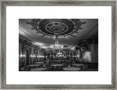 Banquet Room Framed Print by Andrew Soundarajan
