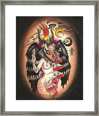 Baphomet Framed Print by Kate Collins