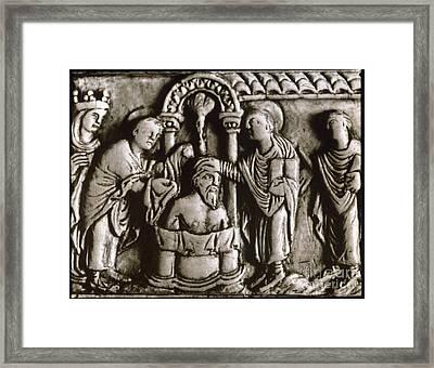 Baptism Of Clovis I, 496 A.d Framed Print by Granger