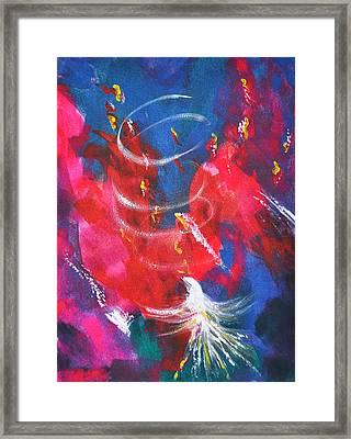 Baptism Of Fire Framed Print by Denise Warsalla