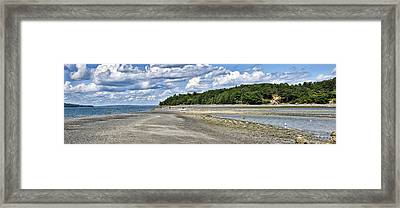 Bar Harbor - Land Bridge Panorama Framed Print by Brendan Reals