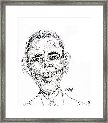 Barack Obama Framed Print by Cameron Hampton PSA