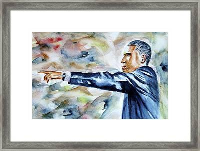 Barack Obama Commander In Chief Framed Print by Brian Degnon