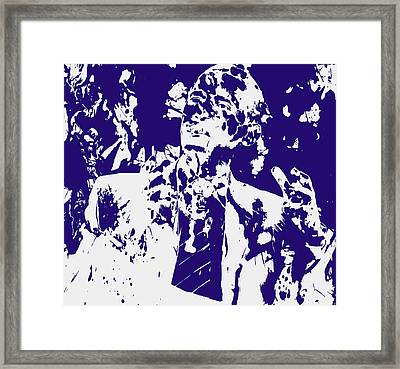 Barack Obama Paint Splatter 4a Framed Print by Brian Reaves