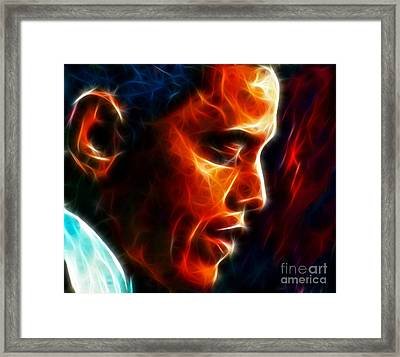Barack Obama Framed Print by Pamela Johnson