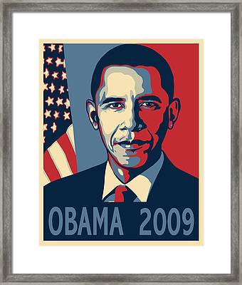 Barack Obama Presidential Poster Framed Print by Sue  Brehant