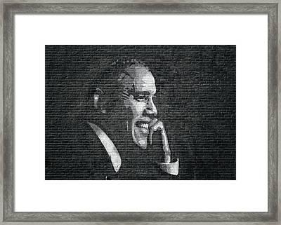 Barack Obama Framed Print by Steven Michael