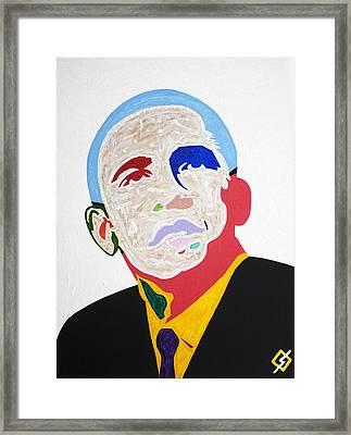 Barack Obama Framed Print by Stormm Bradshaw