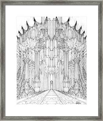 Barad-dur Gate Study Framed Print by Curtiss Shaffer