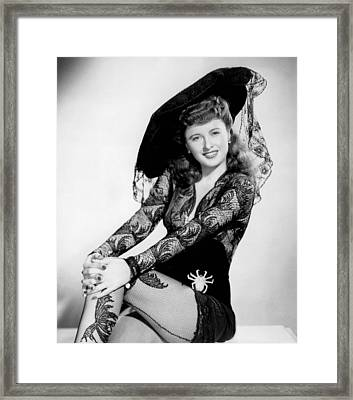 Barbara Stanwyck Framed Print by American School