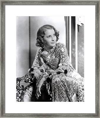Barbara Stanwyck, Late 1930s Framed Print by Everett