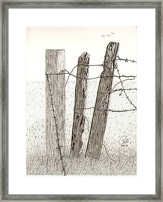 Barbed Framed Print by Pat Price