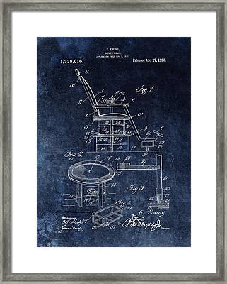 Barber Chair Patent Framed Print by Dan Sproul