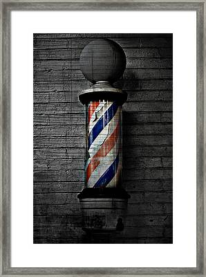 Barber Pole Blues  Framed Print by JC Photography and Art