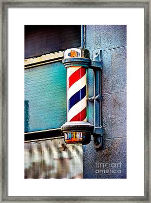 Barber's Pole Framed Print by Jim Raines