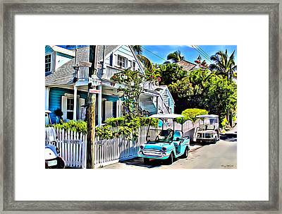 Harbour Island House Framed Print by Anthony C Chen