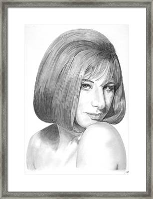 Barbra Streisand Framed Print by Rob De Vries
