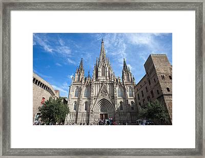 Barcelona Cathedral In Spain Framed Print by Artur Bogacki