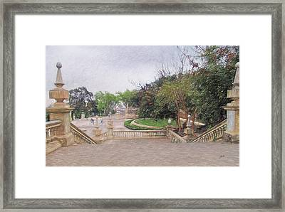 Barcelona, Cityscape Framed Print by Joaquin Abella