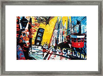 Barcelona Framed Print by Gerald Herrmann
