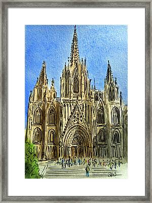 Barcelona Spain Framed Print by Irina Sztukowski
