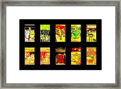 Barcelona Store Fronts Framed Print by Funkpix Photo Hunter