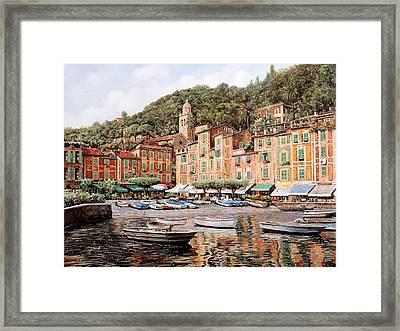 barche a Portofino Framed Print by Guido Borelli