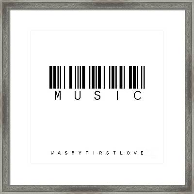 Barcode Music Framed Print by Steffi Louis