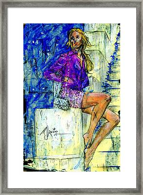 Barefoot City Nights Framed Print by P J Lewis