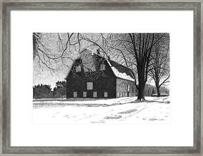 Barn 24 Maplenol Barn Framed Print by Joel Lueck