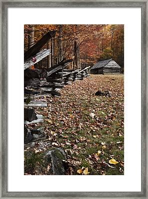 Barn At Jim Bales Place Framed Print by Andrew Soundarajan