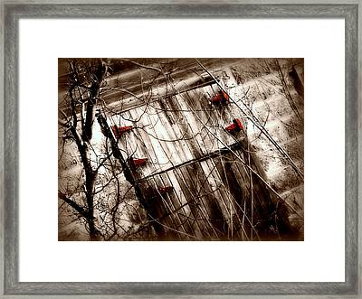 Barn Door Framed Print by Julie Hamilton