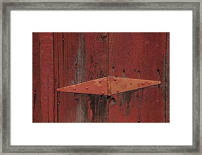 Barn Hinge Framed Print by Garry Gay