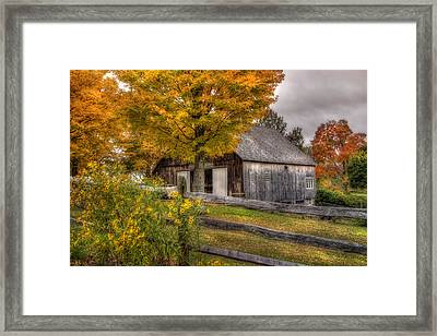 Barn In Autumn Framed Print by Joann Vitali
