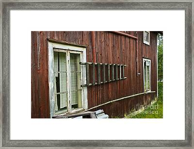 Barn In Sweden Framed Print by Micah May