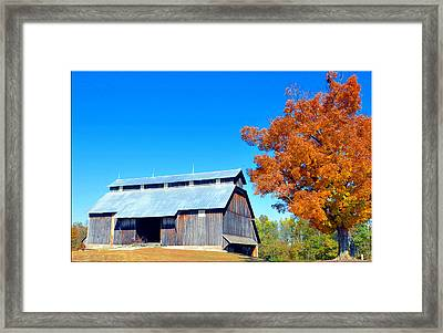 Barn In The Fall  Framed Print by Brittany H
