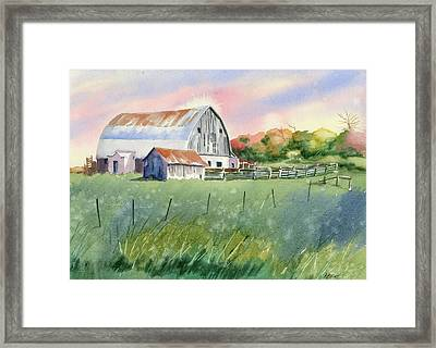 Barn On Reeves Rd Framed Print by Marsha Elliott