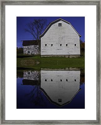 Barn Reflection Framed Print by Garry Gay