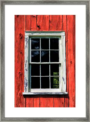 Barn Window Closeup At Old World Wisconsin Framed Print by Christopher Arndt