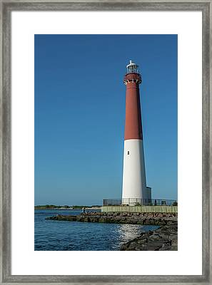 Barnegat Lighthouse And Inlet New Jersey Framed Print by Terry DeLuco