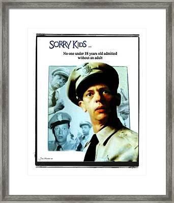 Barney Poster Framed Print by Joan  Minchak