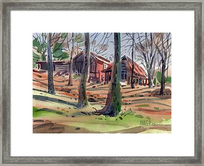 Barns And Sheds Framed Print by Donald Maier