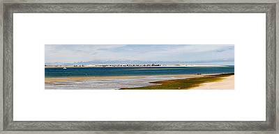 Barnstable Harbor Panorama Framed Print by Charles Harden