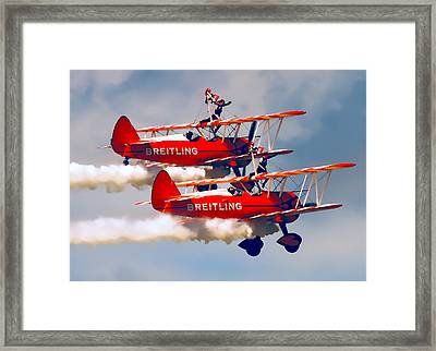 Barnstormers And Wing Walkers Framed Print by Daniel Hagerman
