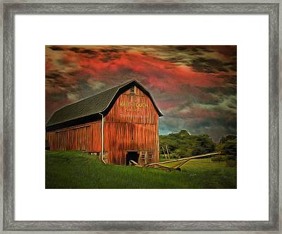 Barnstorming Framed Print by Anthony Caruso