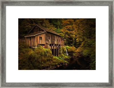Baroque Cedar Grist Mill Framed Print by Mark Kiver