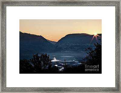 Barrea Lake, Abruzzo National Park Framed Print by Luigi Morbidelli